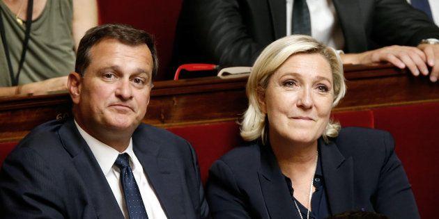 Marine Le Pen et Louis Aliot à l'Assemblée nationale le 12