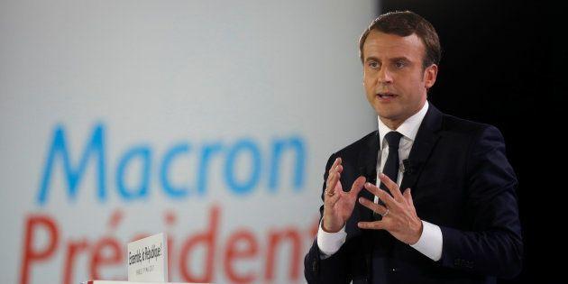Emmanuel Macron en meeting à Paris le 1er mai