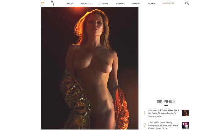 Kate Moss pose entièrement nue dans