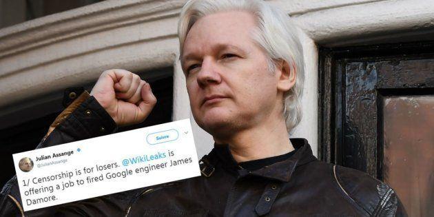 Julian Assange propose un job à l'ingénieur de Google renvoyé pour