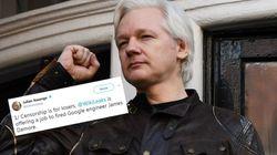 Assange propose un poste à l'ingénieur de Google renvoyé pour