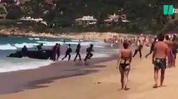 Le quotidien des migrants a rencontré celui des touristes sur cette plage