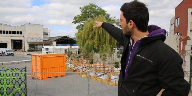 Julien Beller, l'architecte du premier camp de migrants de Paris, présente le lieu au