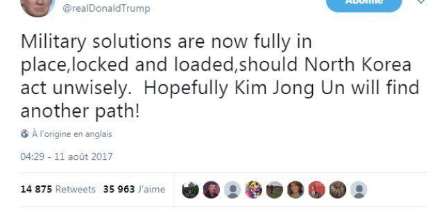 Trump prévient la Corée du Nord :