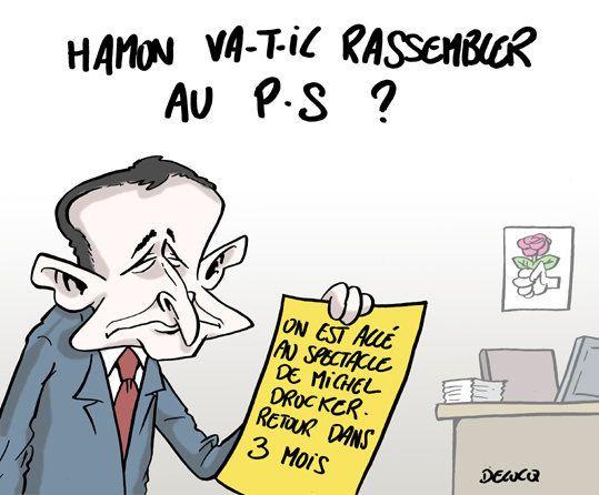 Lors de l'investiture de Benoît Hamon, les ténors du PS avaient