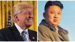 Donald Trump avec les cheveux de Kim Jong-Un, et