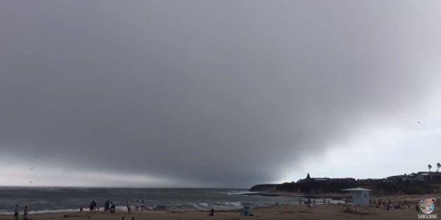 Cet impressionnant nuage ne faisait que passer (très
