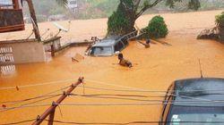 Les images dramatiques des inondations qui ont fait plus de 300 morts au Sierra