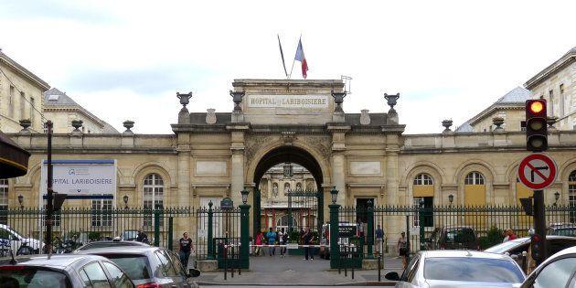 L'entrée de l'hôpital Lariboisière à