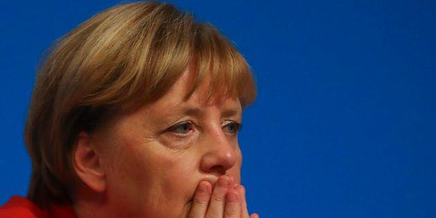 La chancelière Angela Merkel assistant à une convention de son parti, la CDU, à Essen le 6 décembre