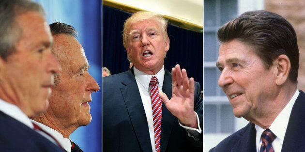 Donald Trump est contredit par Bush père, Bush fils... et même
