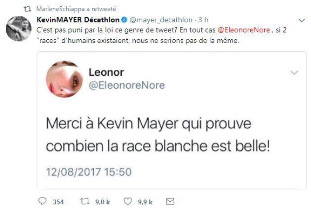 La réponse parfaite de Kevin Mayer à un tweet