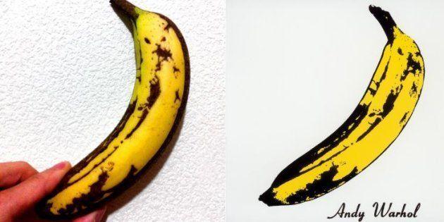 L'artiste japonais a reproduit la banane de Warhol à