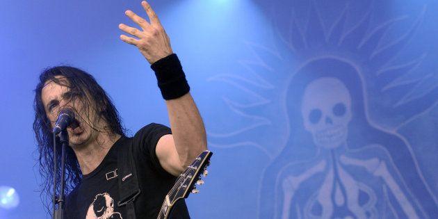 Joseph Duplantier, guitariste et chanteur de Gojira aux Eurockéennes le 5 juillet