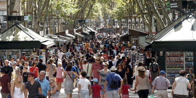 Un attentat a eu lieu sur Les Ramblas, l'équivalent barcelonnais des