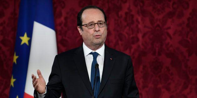 François Hollande à l'Élysée lors des festivités du Nouvel an du calendrier lunaire, le 8