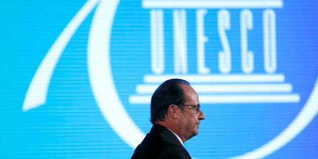 François Hollande à l'UNESCO, novembre 2016. REUTERS/Yoan