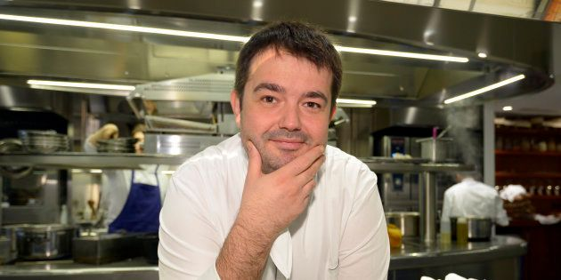 Jean-Francois Piege dans son nouveau restaurant