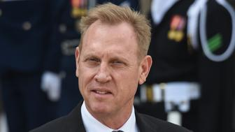 Acting US Secretary of Defense Patrick Shanahan waits for French Army Minister Florence Parly (unseen) at the Pentagon in Washington, DC on March 18, 2019. (Photo by Eric BARADAT / AFP)        (Photo credit should read ERIC BARADAT/AFP/Getty Images)