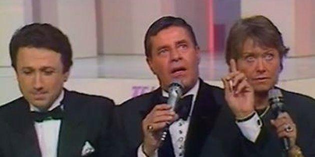 Jerry Lewis, parrain du premier Téléthon français en