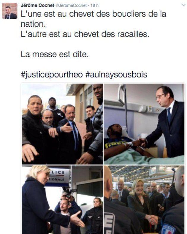 Dans L'Emission politique, Marine Le Pen condamne un cadre du FN qui a parlé de Théo comme