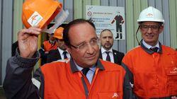 François Hollande en visite à Florange