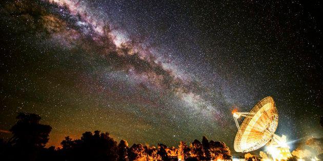 Un message a été émis par un radiotélescope à destination de l'étoile polaire (photo : Observatoire de