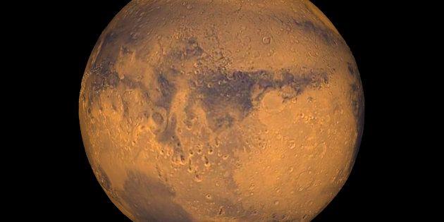 Les scientifiques ont découvert l'existence de tempêtes de neige sur la planète Mars. (Photo