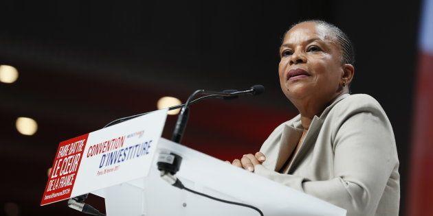 Christiane Taubira à Paris le 5 février