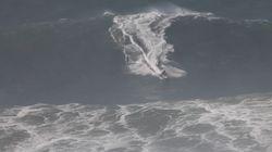 Cette surfeuse française a affronté une vague monstre au