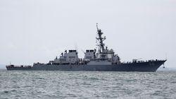 Des restes humains localisés dans le destroyer américain qui a heurté un