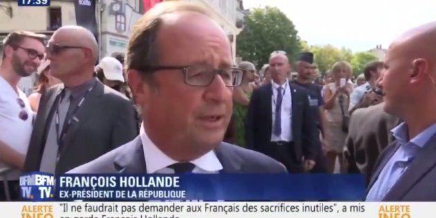 C'est à Angoulême que François Hollande a adressé sa première mise en garde à Macron depuis son
