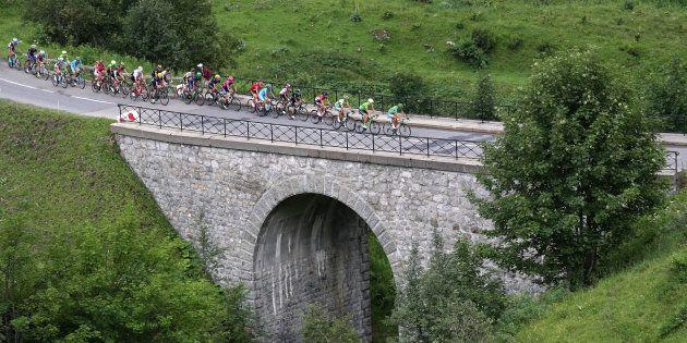 Lors de l'étape Megeve-Avoriaz du Tour de France le 23 juillet