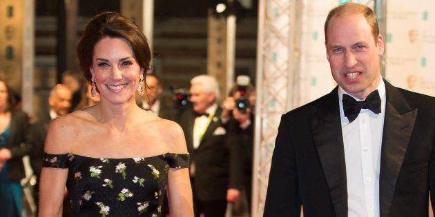 Le prince William, duc de Cambridge et la duchesse de Cambrigde Kate Middleton arrivent pour la 70ème...