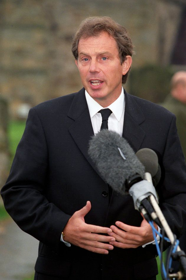 Après l'annonce du décès de la princesse Diana, le Premier ministre Tony Blair s'adresse à la nation,...