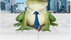 Cette grenouille saute sur le Brexit pour attirer la City à La