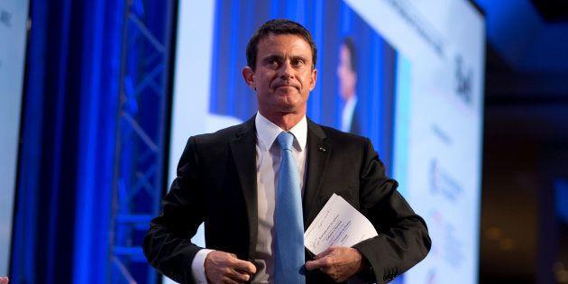 Manuel Valls lors de son déplacement au Canada à la