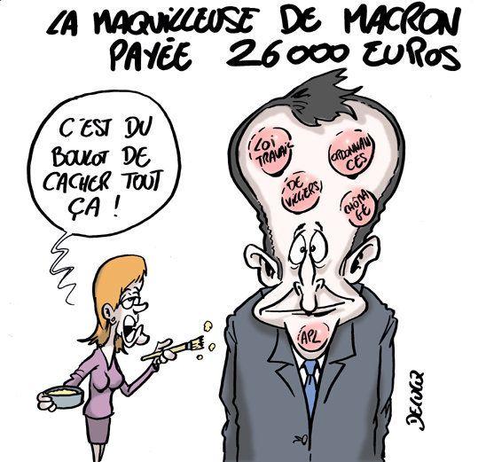 Comment la maquilleuse d'Emmanuel Macron justifie ses