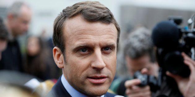 Emmanuel Macron à Bazainville le 18 avril
