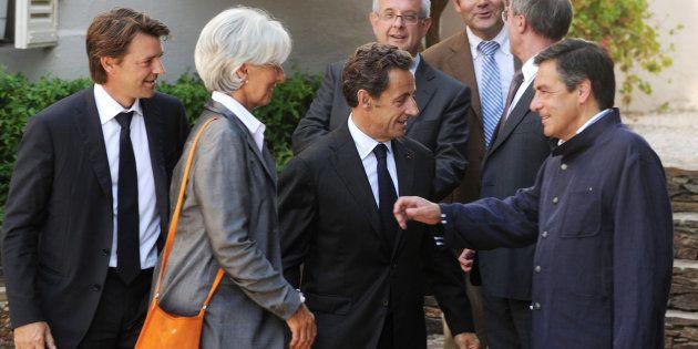 François Baroin, Christine Lagarde, Nicolas Sarkozy et François Fillon en