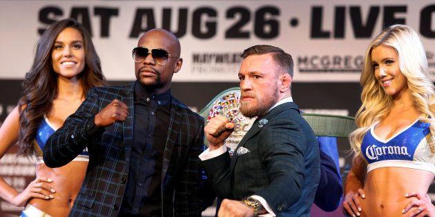 Floyd Mayweather et Conor McGregor à Las Vegas le 23 août