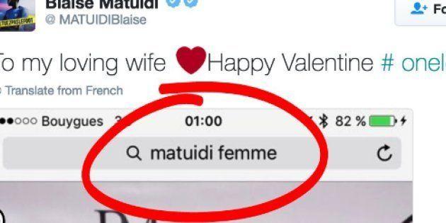 Le tweet de Blaise Matuidi pour fêter une joyeuse Saint-Valentin à sa compagne