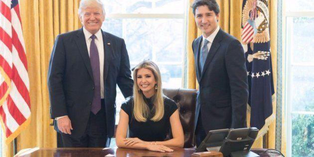 La fille de Donald Trump s'est installée au coeur de la photographie qui scelle la rencontre avec Justin