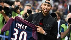 Une star de la NBA donne le coup d'envoi de PSG -