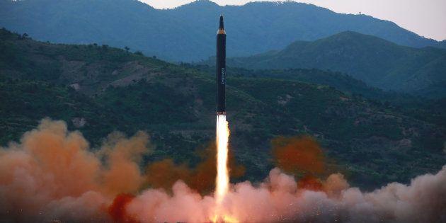 Un missile balistique tiré par la Corée du Nord le 15 mai