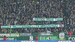 En solidarité avec Théo, les supporters du Werder Brême déploient deux