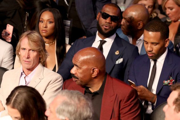 Michael Bay, Savannah Brinson, Steve Harvey et Lebron