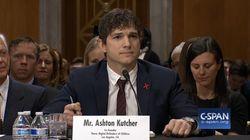Le discours d'Ashton Kutcher, au bord des larmes, sur les victimes de trafics