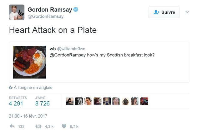 Ne demandez surtout pas à Gordon Ramsay de juger votre plat sur