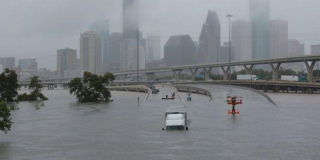 La ville de Houston, au Texas, ravagée par la tempête tropicale